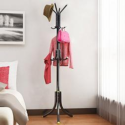 Do4U Metal Coat Rack Free Standing Display Hall Tree With 3