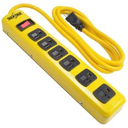 Yellow Jacket 5139N Heavy Duty Metal Power Strip with 6 Outl