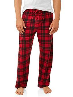 Hanes Mens Micro Fleece Pant  -Red Plaid -4XL