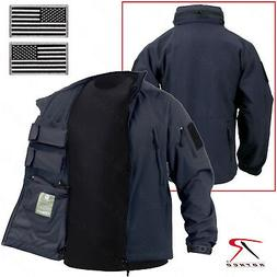 Midnight Navy Blue Concealed Carry Soft Shell Tactical Jacke
