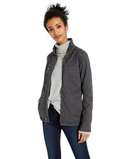 Daily Ritual Women's Military Cargo Jacket, Dark Grey, 12