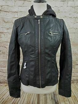 Lock and Love Motorcycle Jacket Small Black WJC663 Womens NW