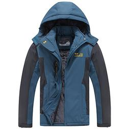 Men's Mountain Waterproof Ski Jacket Windproof Rain Jacket #