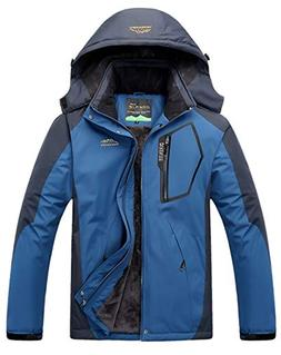 YXP Men's Mountain Waterproof Ski Jacket Windproof Rain Jack