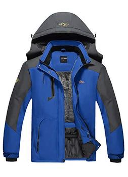 CIOR Men's Mountain Waterproof Ski Jacket Windproof Rain Jac