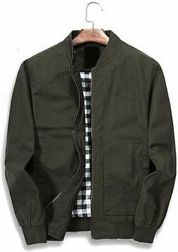 Nantersan Mens Bomber Jacket Cotton Softshell Sportswear Lig