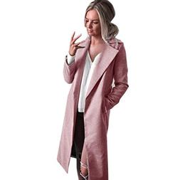Hot Sale! Napoo Women Long Coat Winter Lapel Parka Jacket So