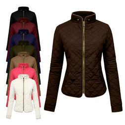 NE PEOPLE Women's Lightweight Padded Puffer Zip up Quilted A