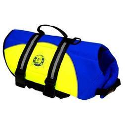 Neoprene Doggy Life Jacket Extra Small Blue/ Yellow 7 - 15 l