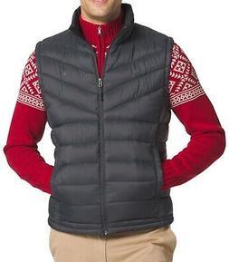 IZOD NEW Asphalt Gray Mens Size Large L Full Zip Puffer Vest