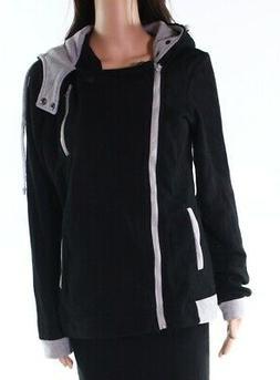 DJT NEW Black Women's Size XL Hooded Full Zip Long Sleeve Ja