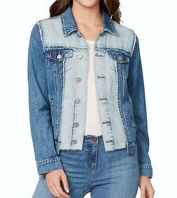 William Rast NEW Blue Women's Size Medium M 2-Tone Frayed De