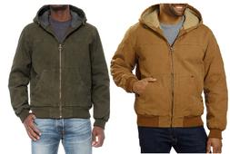 NEW!! G.H. Bass & Co. Men's Sherpa Lined Canvas Bomber Jacke