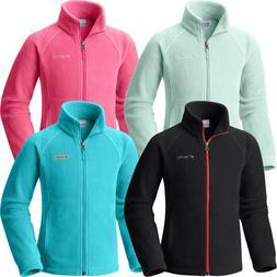 """New Columbia Girls """"Benton Springs"""" Full Zip Fleece Jacket S"""