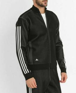 new adidas ID KNIT BOMBER Jacket men's XL black athletics tr