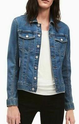 NEW Calvin Klein Jeans Women's Denim Trucker Jacket Large