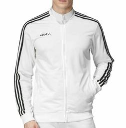 NEW ADIDAS MEN'S ESSENTIALS 3 STRIPES TRICOT TRACK JACKET~ S