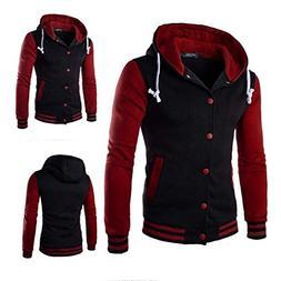 BA Outwear New Men's Full Zip Hooded Short Jacket Coat Print