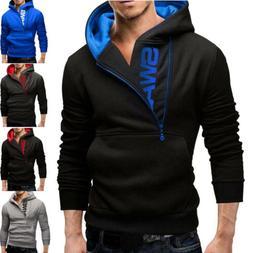 New Men's Winter Slim Hoodies Warm Hooded Sweatshirt Coat Ja