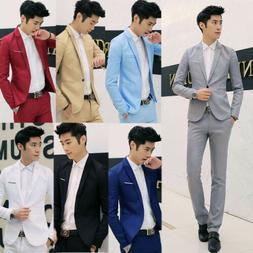 New Mens Casual Slim Fit One Button Suit Blazer Business Coa