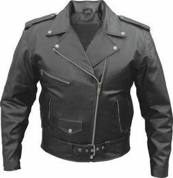 New Mens Genuine Cowhide Leather Brando Perfecto Biker Origi