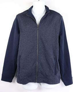 new mens jacket l large navy blue