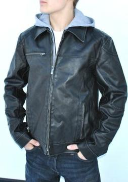 new mens kenneth cole faux leather jacket