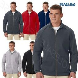 Gildan Mens Full Zip Jacket Premium Cotton Ringspun Fleece S