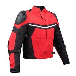 NEW PRO MESH MOTORCYCLE JACKET RAIN WATERPROOF RED