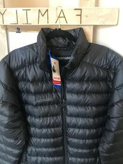 NEW! Sz Lrg Marmot Mens Azos Down Puffer Jacket - Black 700