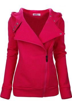 NEW Tom's Ware Women's Pink Hoodie Zip Jacket S