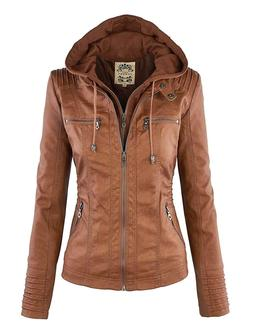 new wjc663 womens removable hoodie motorcyle jacket