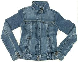 New Women's Blue Jean Jacket On Sale Compare to Levi, Size X