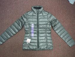 New Spyder Women's GREY Prymo Down Jacket EXTRA SMALL WELD /