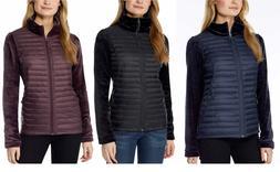 NEW!! 32 Degrees Women's Hybrid Mix Media Plush Jackets Vari