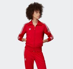 New Women's Adidas Originals Firebird Track Jacket   Scarlet