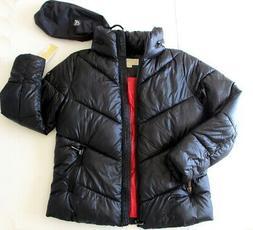 NEW Michael Kors Women's Packable Hooded Puffer Coat Black J