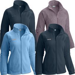 """New Womens Columbia """"Benton Springs"""" Full Zip Fleece Jacket"""