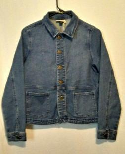 NEW Women's Jean Jacket / Gauze Blazer - Universal Thread