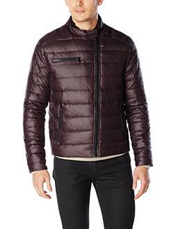 Kenneth Cole New York Men's Asymmetrical Down Moto Jacket, M