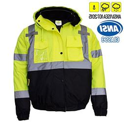 New York Hi-Viz Workwear WJ9012-M Men's ANSI Class 3 High Vi