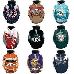 NFL Fans Fashion Men's Soft Hoodies Sweatshirt Jackets Suppo