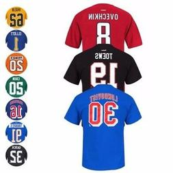 NHL Team Player Name & Number Jersey T-Shirt Collection by R