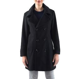 Alpine Swiss Norah Womens Wool Coat Double Breasted Peacoat