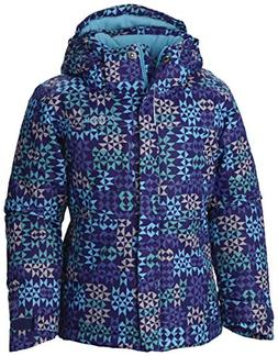 Columbia Girls Nordic Jump Jacket, Light Grape Print, Small