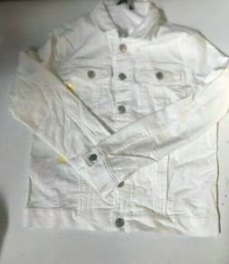 NWD Buffalo Women's Knit Soft Denim Jacket - White - Multipl