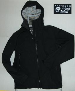 NWOT MOUNTAIN HARDWEAR DRY-Q Black WATERPROOF HOODIE JACKET