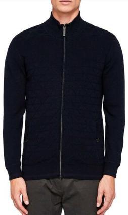 NWOT Ted Baker London Delzip Full Zip Navy Blue Jacket- Men'