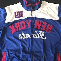 NWOT NY GIANTS Jacket Mens XL Blue White NFL Coat Windbreake