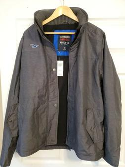 NWT charcoal Abercrombie&Fitch Hollister XL All-Weather Jack